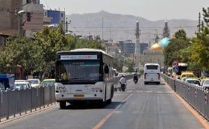 اتوبوس، از وسایل نقلیه عمومی شهر مشهد